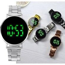 여자의 디지털 시계 LED 전자 손목 시계 로즈 골드 실버 라운드 다이얼 스포츠 시계 여자 남자 아이 선물 zegarek damski