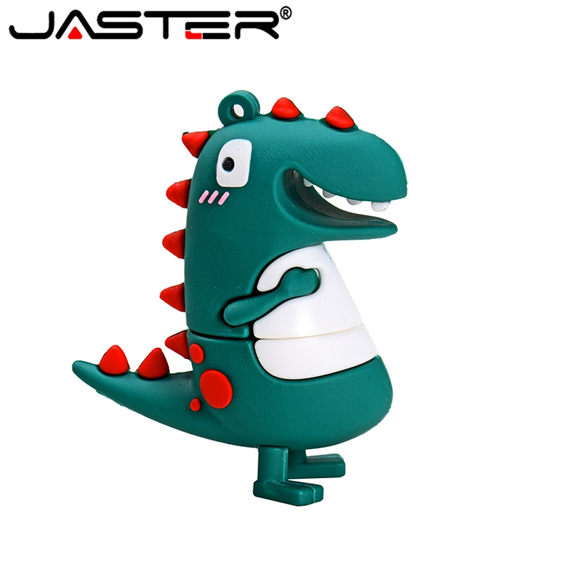 JASTER Pen Drive Dinosaur Cartoon USB Flash Drive 128GB 64GB 32GB 16GB 8GB 4GB USB Stick Pendrive  Free Shiping  Creative Gifts