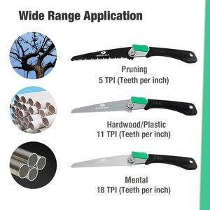 Image 5 - Mossy Sierra plegable 3 en 1 de roble para acampada, sierra plegable de jardín para carpintería, herramienta de jardinería