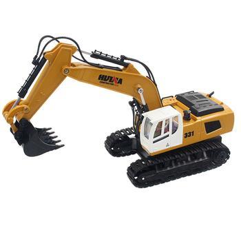 Kuulee Toys 1331 1/16 2.4G 9CH Electric Rc Excavator Engineering Digging Truck Model Rc Excavator