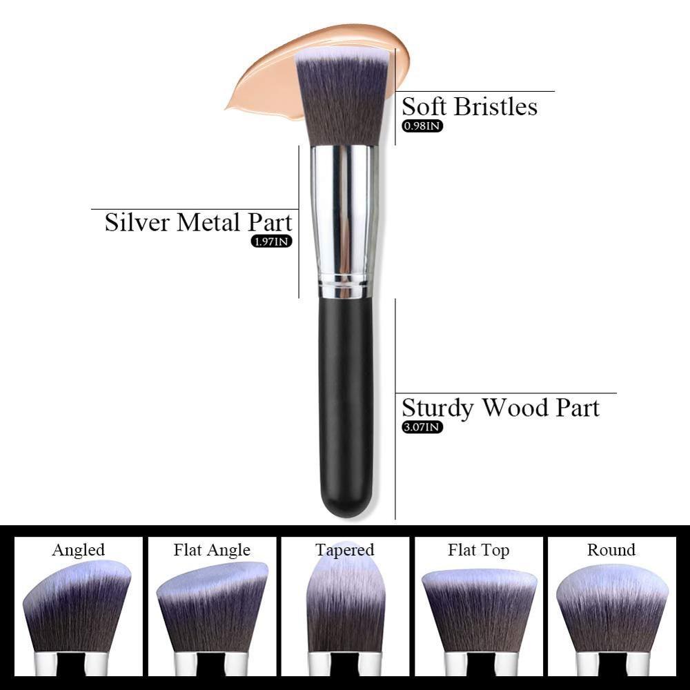 Makeup Brushes tool set 10pcs Professional Powder Foundation Eyeshadow Make Up Brushes Cosmetics Soft Synthetic Hair 4