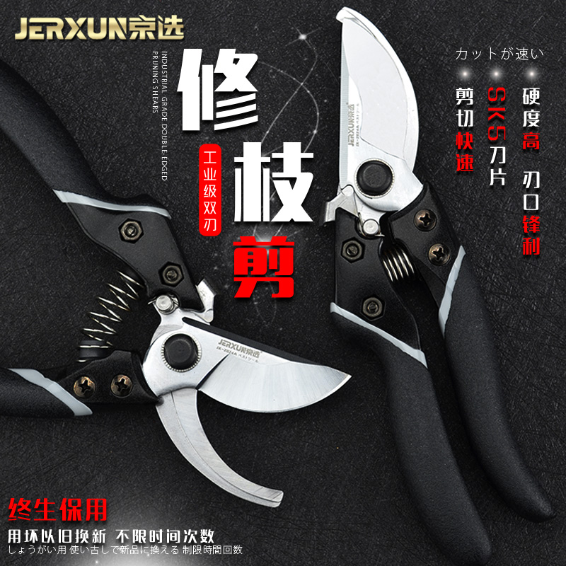 JERXUN Garden Scissors Household Power Pruning Scissors Tree Pruning Flower Pruning Fruit Tree Scissors Flower Gardening Tools