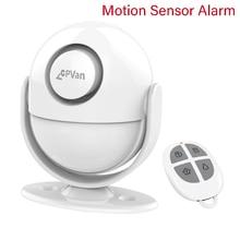 CPVan PIR Sensore di Movimento Senza Fili di Allarme A Raggi Infrarossi Rivelatore Antifurto di Sicurezza Domestica del Rivelatore di 125dB Volume di Allarme Aggiungi Telecomando