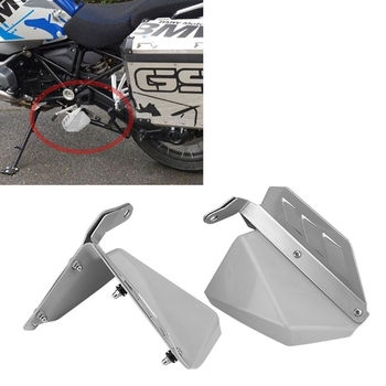 Motorcycle Pedal Splash Guard Plate Foot Plate Foot Mud Shield Windshield for BMW R1200GS R1200 R GS LC (13-18) / R1200GS LC ADV