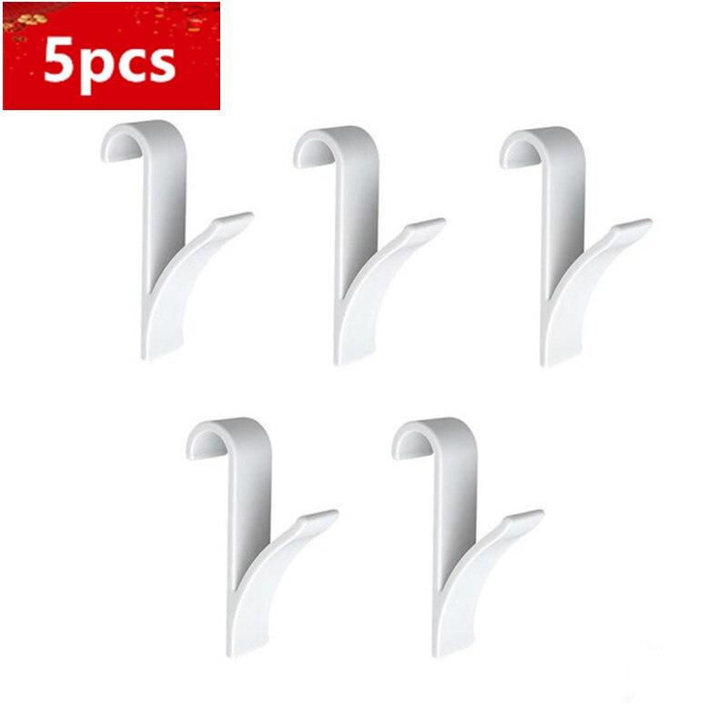 5pcs Hot Hanger For Heated Towel Radiator Rail White Bath Hook Holder Clothes Hanger High Quality  Bathroom Towel Hanger
