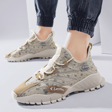 Ins Fashion Men Shoes Summer Lace-up Mesh Casual Lightweight Mans Walking Sneakers Comfy Breathable Zapatos De Hombre
