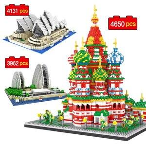 3962-4650 шт Строительные блоки Всемирно известная архитектурная Серия Shell Opera House Sydney Opera House креативные кирпичные подарки