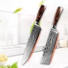 Кухонный нож шеф повара с лазерным Дамасским узором 8 дюймов