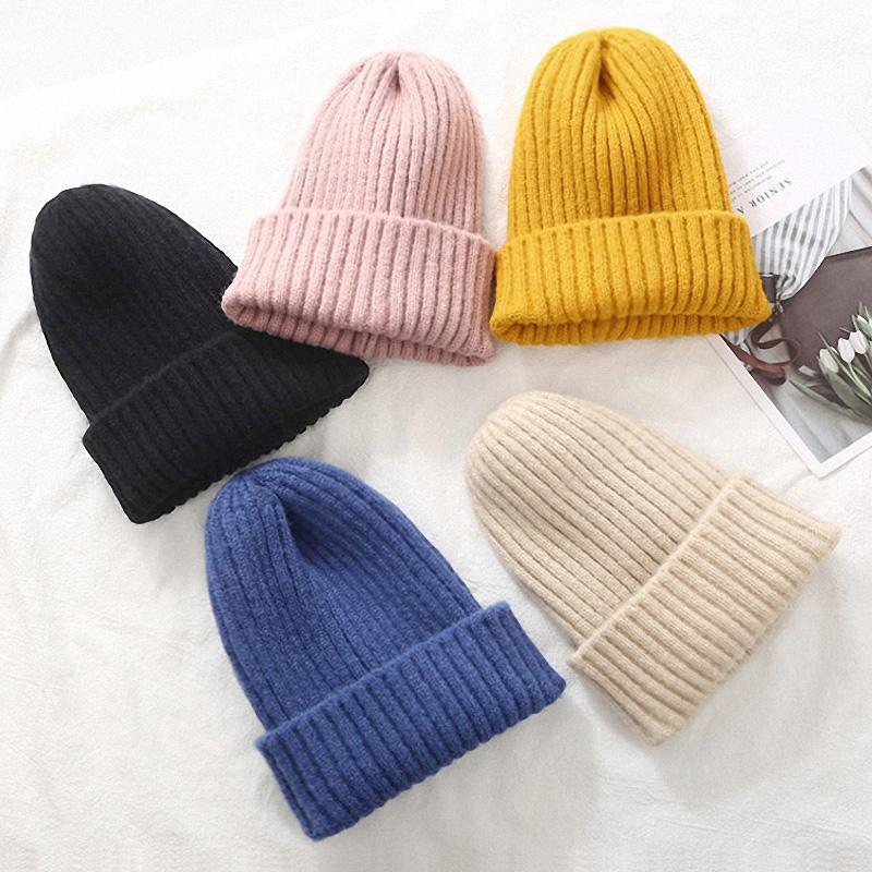Fashion Women Beanie Hat Knitted Winter Hat Women Thicken Warm Winter Hats For Women Beanies Ladies Soft Winter Cap 2021