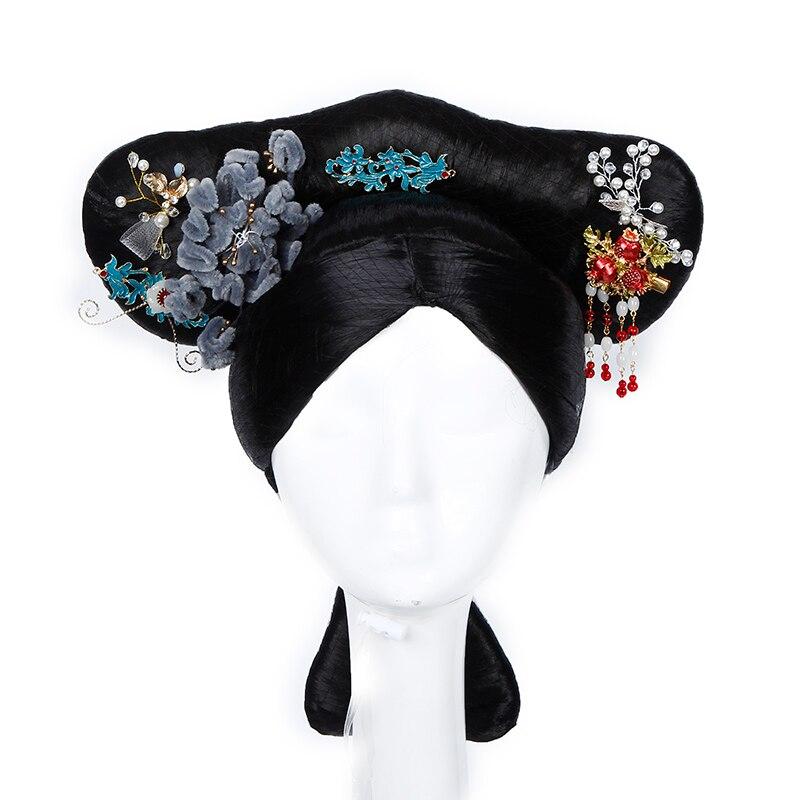 Весь старинный китайский для волос для женщин винтажные волосы династии Цин принцесса косплей аксессуары ТВ фильм играть фотография корол