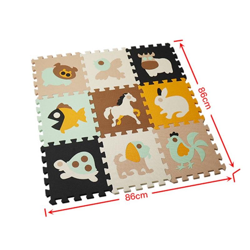 Cartoon Animal Pattern Play Mats Puzzles EVA Foam Floor Pad For Children Baby Play Gym Crawling Mats Toddler Carpet | Happy Baby Mama