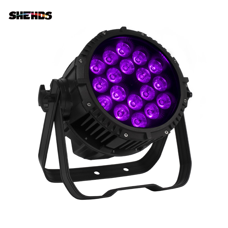Top Seller Waterproof LED Par 18x18W RGBWA+UV DMX512 Outdoor IP65 LED DMX Stage Lighting Effect Master-Slave Luces Discoteca