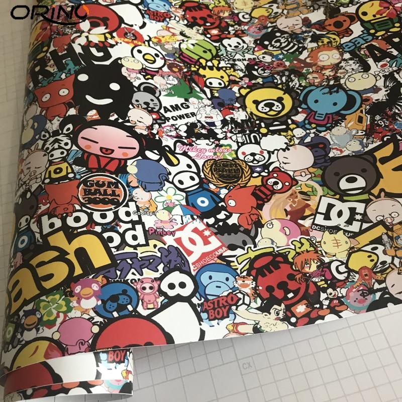 Cartoon Graffiti Sticker Bomb Vinyl Film Wrap-4