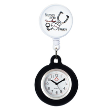 ALK Nurse Pocket Watches Cute High-grade Silicone Medical Watches Round Stationary FOB Clocks Clip-on Doctor Clock Hospital Gift