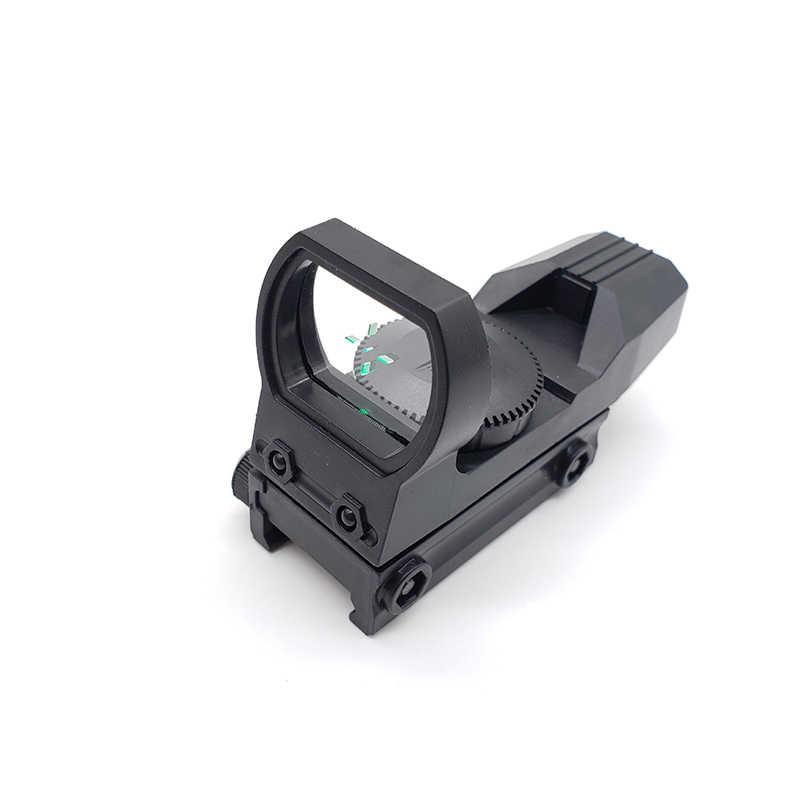 20 Mm Rail Riflescope Berburu Optik Hologram Hijau Dot Sight Refleks Reticle Taktis Lingkup Collimator Pandangan Mainan Plastik