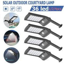 2019 New Solar Light Motion Sensor Wall Lamp IP65 Outdoor Waterproof Garden Security Light 1/2/4PCS Solar LED Street Light