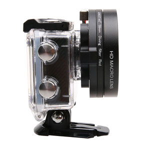 Image 4 - 58mm 16x grossissement HD Macro objectif + filtre rouge 58mm adaptateur anneau capuchon dobjectif pour SJ6 Legend Gopro 3 4 accessoires de photographie