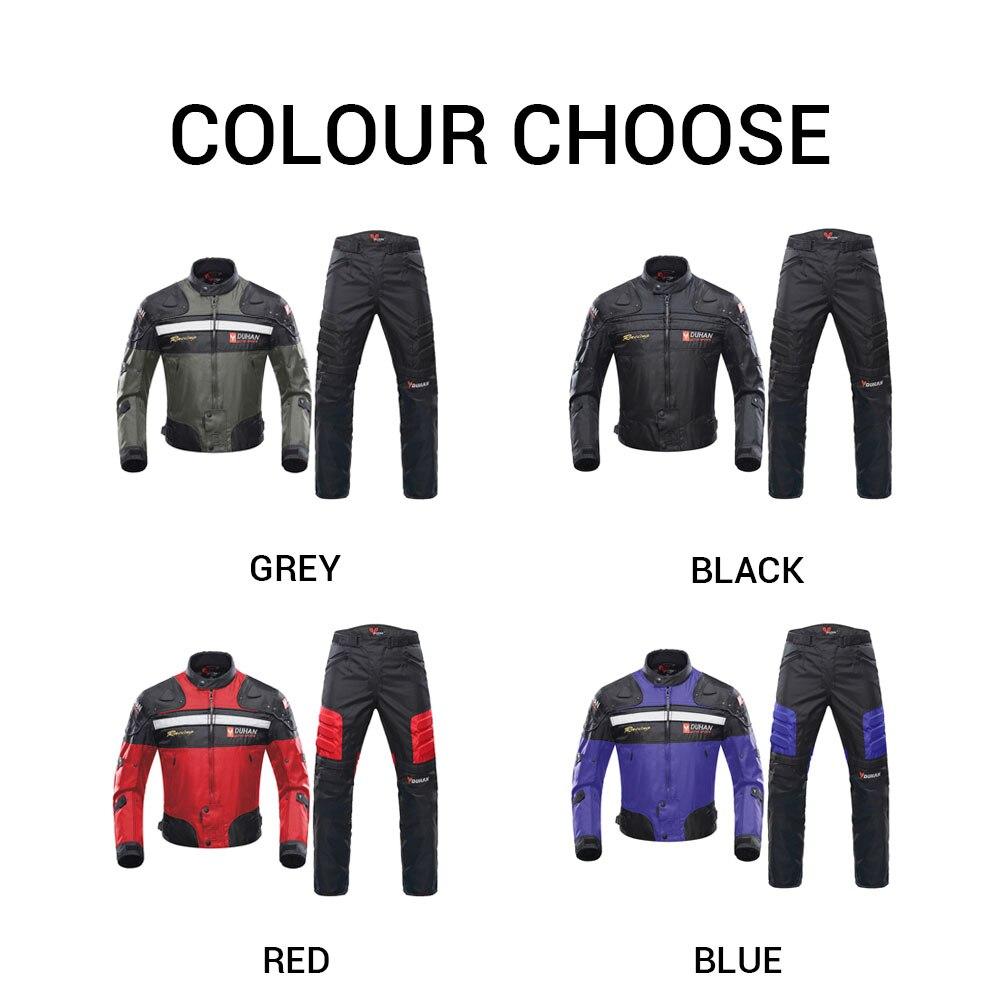 DUHAN coupe-vent Moto course costume équipement de protection armure Moto veste + Moto pantalon Hip protecteur Moto vêtements ensemble - 2