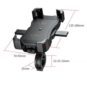 Image 5 - Waterdichte 12V Motorfiets QC3.0 Usb 15W Qi Wireless Charger Mount Houder Stand Voor Iphone 3.5 6.5 Inch mobiele Gps