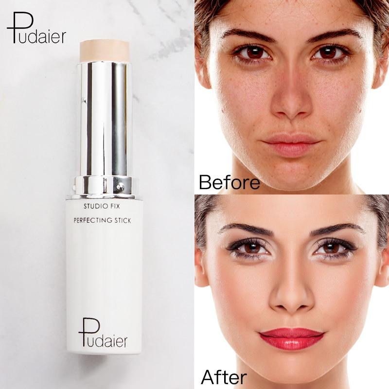 Pudaier Face Concealer Foundation Cream Makeup Contour Corrector Stick Highlighter Cover Dark Circle Professional Pen Cosmetics