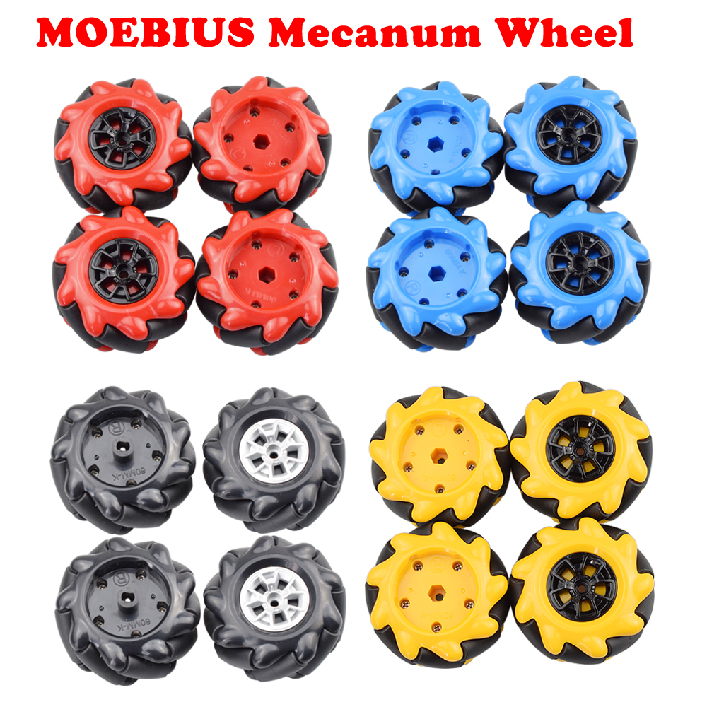 MOEBIUS 2020 HOT 60mm Mecanum Wheel Omni Tire Compatible With TT Motor LEGOs For Arduino DIY Robot STEM Toy Parts
