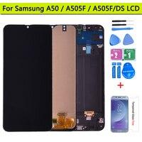 Para samsung galaxy a50 SM-A505FN/ds a505f/ds a505 display lcd digitador da tela de toque com quadro para samsung a50 lcd