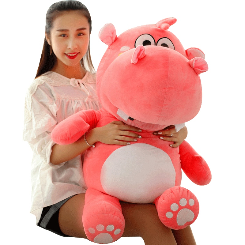 Dropshipping 30-60cm Soft Hippos Plush Toys Cartoon Hippopotamus Dolls Sofa Pillows Animal Cushions Baby Xmas Birthday Present
