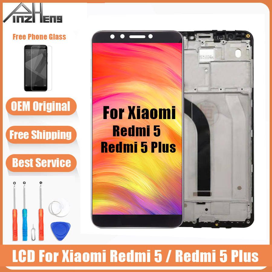 AAAA Original LCD For Xiaomi Redmi 5 Plus Screen Display Digitizer Assembly Replacement