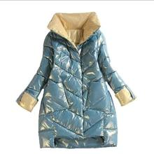 Chaqueta con soporte de alta calidad para mujer, abrigo de callo, chaquetas de moda, ropa cálida de invierno, Parkas informales, novedad de 2021