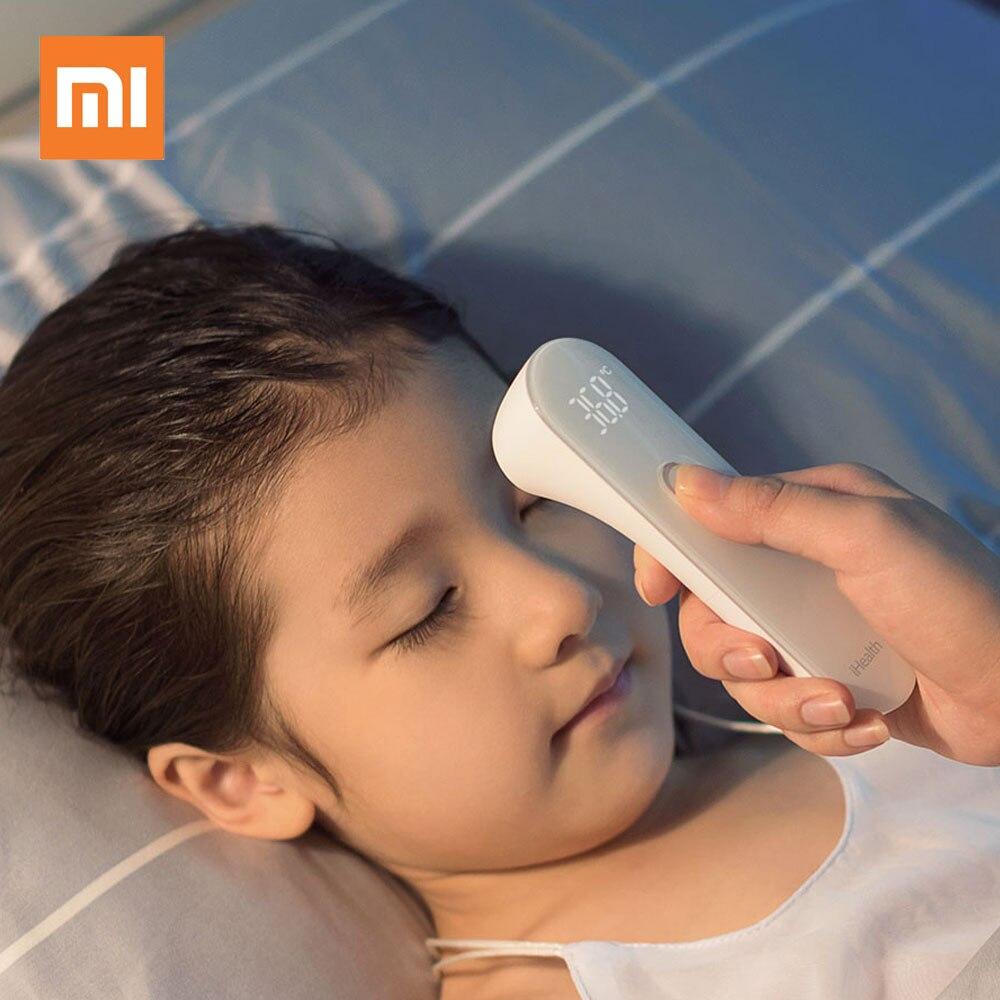 【xiaomi】紅外線額式體溫計pt3 ihealth 九安家用醫用電子額溫槍額溫計 非接觸1秒測溫兒童寶寶溫度計 標配 額溫槍 體溫槍