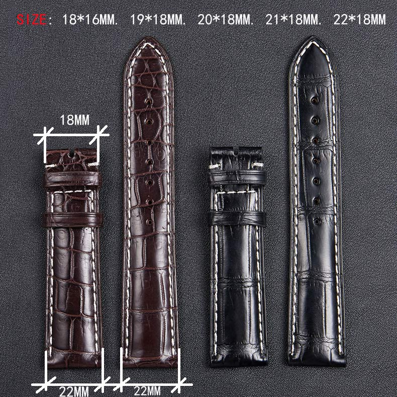 18mm 19mm 20mm 21mm 22mm genuíno jacaré