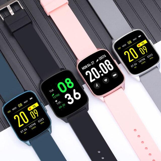 KW17 2020 mężczyźni kobiety inteligentny zegarek IP68 dzieci zegar pulsometr pomiar podczas snu Smartwatch opaska monitorująca aktywność fizyczną dla IOS Android