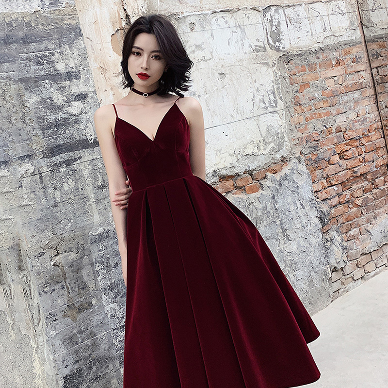 TWOTWINSTYLE Summer Backless Dress For Women V Neck Spaghetti Strap Sleeveless High Waist Sexy Party Dresses Female 2020 Fashion 1