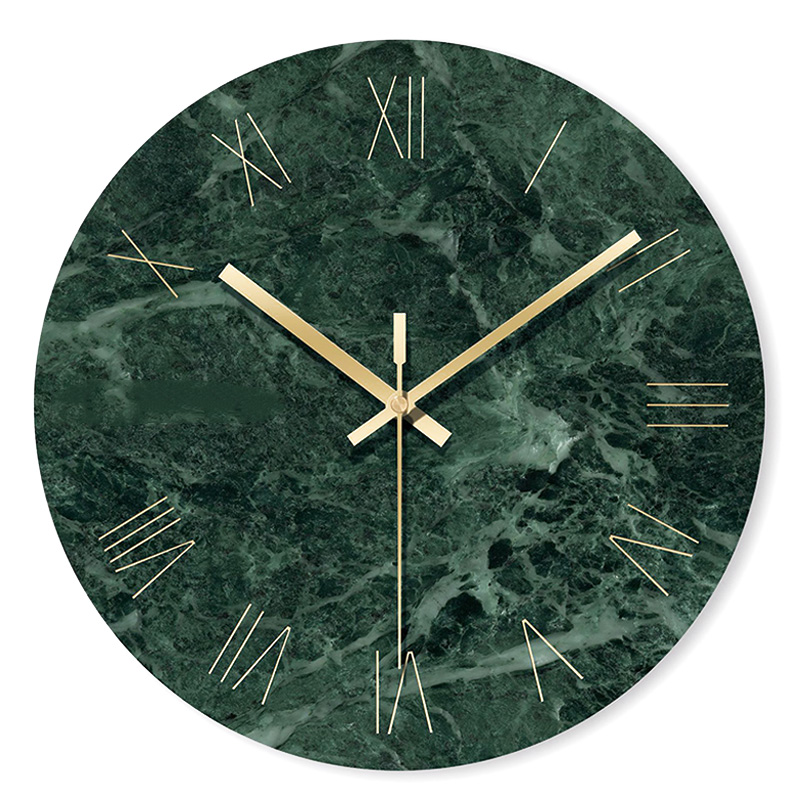 Marble Wall Clock Simple Decorative Creative Nordic Modern Marble Clock Wall Clock