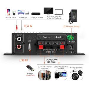 Image 4 - HiFi 100W 2.0 Canali Amplificatore di Potenza Bluetooth Ricevitore Audio Stereo Amplificatore Digitale per Home Auto Marine USB del Giocatore di Musica IR Remote