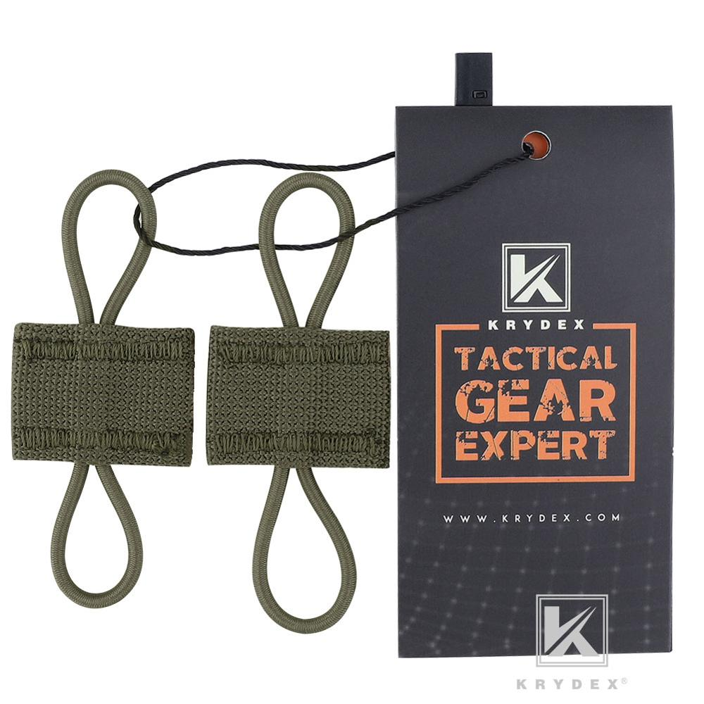 KRYDEX MOLLE Elastic Conversion Buckle RANGER GREEN PTT Retainer Antenna Communication Cable Hydration Tube Route Loop Organizer