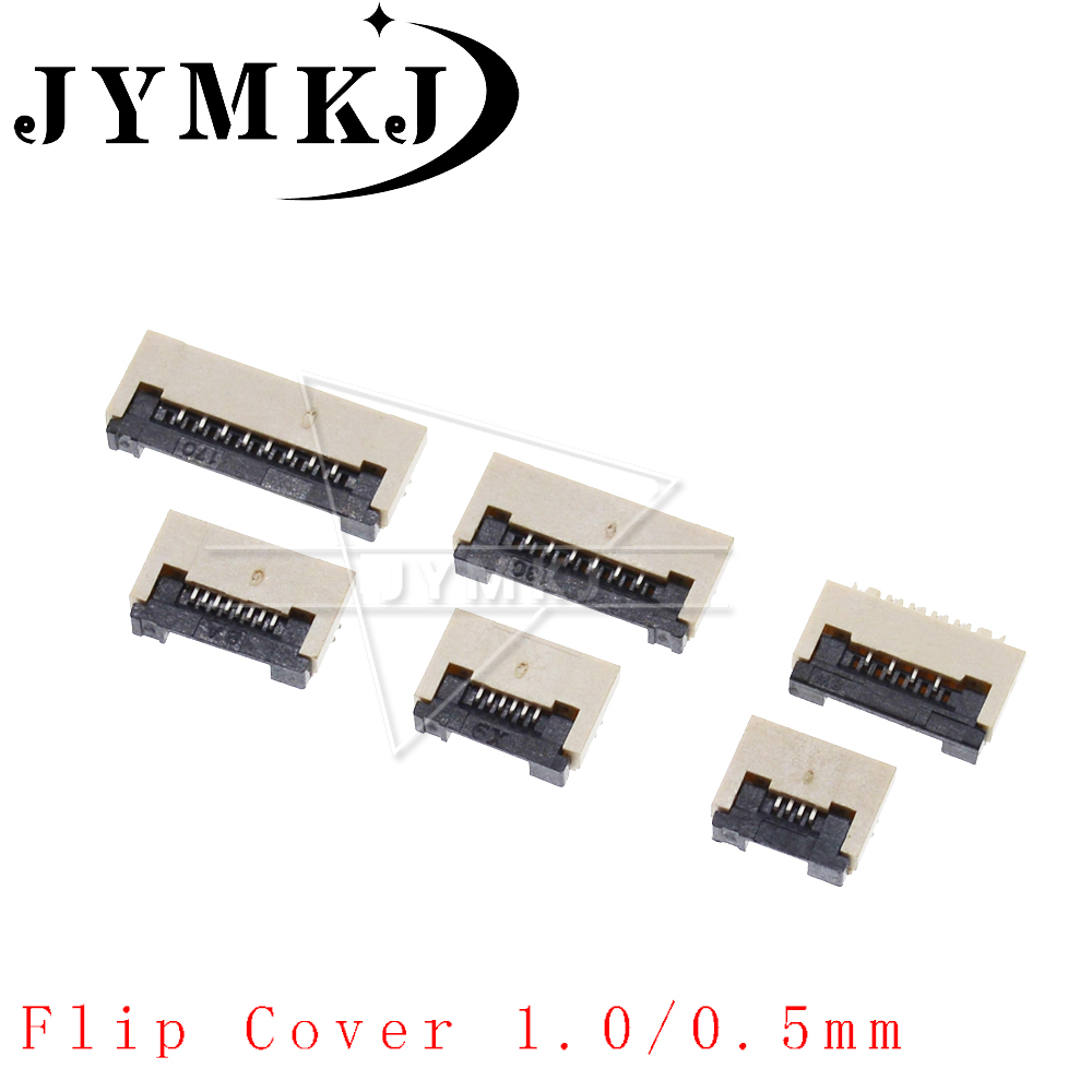 10pcs 0.5mm 1mm Pitch Under Clamshell Socket FPC FFC 0.5mm 1.0mm Flat Cable Connector 4P 5P 6P 8P 10P 12P 14P 16P 20P 22P 24P 25