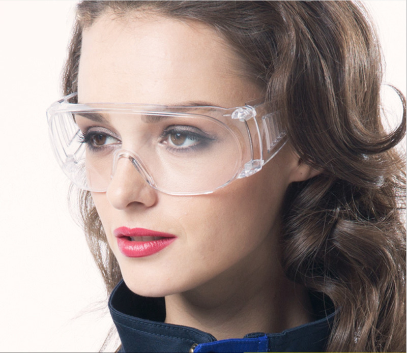 Adult Transparent Protective Googles Eye Shield Lab Anti Splash Anti Dust Glasses