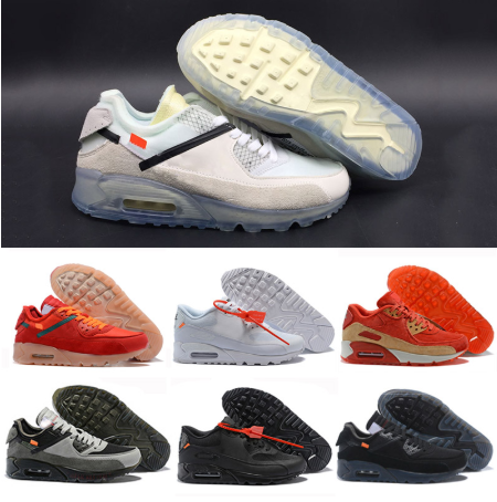 2020 Release Air Best Quality 90 Desert Ore Sneakers Off Hyper Jade 2.0 White Bright Mango Men Women Sports Running Shoes AA7293