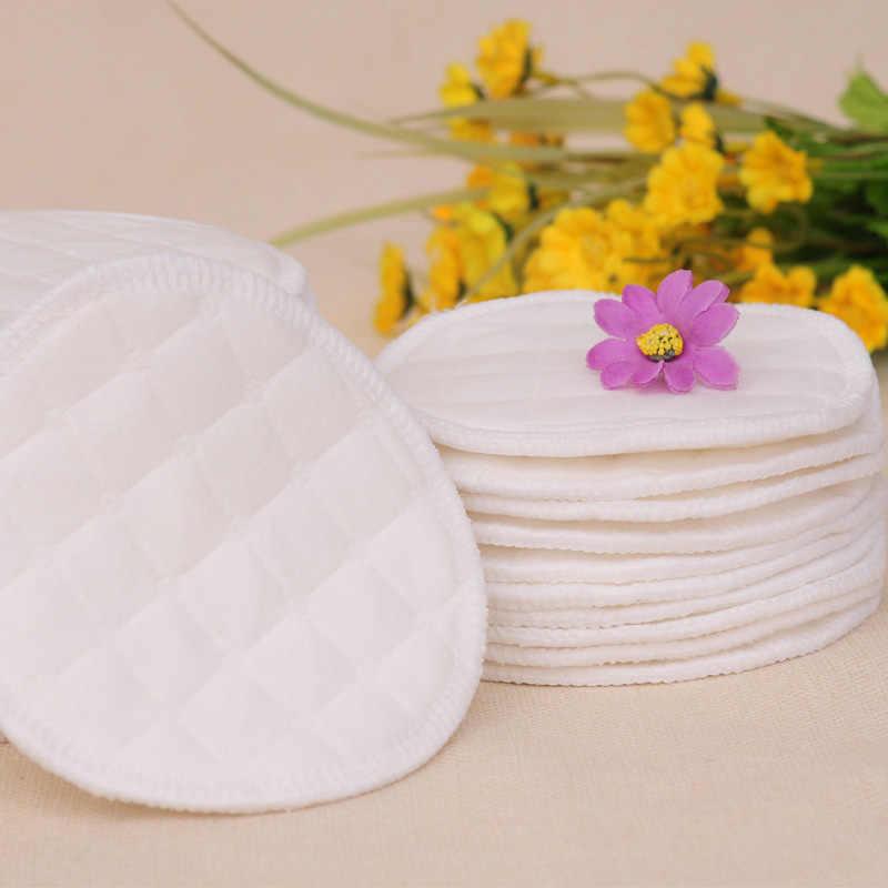 Almohadillas de pechos reutilizables de algodón enfermería impermeable orgánico llano lavable almohadilla bebé lactancia accesorio cuidado postparto