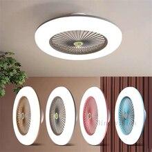 Fan-Light Ceiling-Fan-Lamp Ventilador Cooling Bedroom Living-Room Remote Modern LED