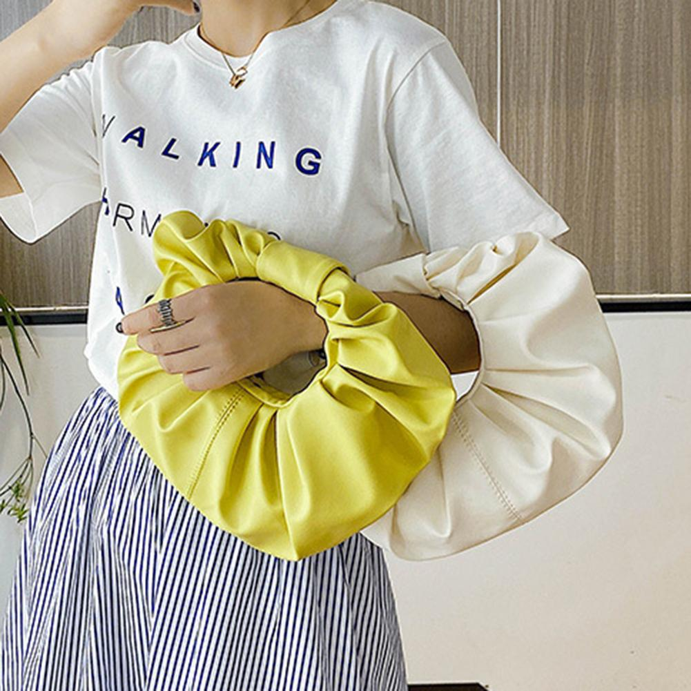 Women Fashion Cloud Pleated Puffy Crossbody Shoulder Pouch Tote Bag Handbag  Pleated Design, Large Capacity, Durable HOT SALES !