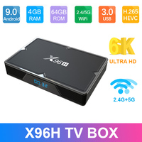Android 9.0 X96H Smart TV BOX 4GB 64GB 32GB Allwinner H603 2.4GHz&5GHz wifi 1080P 4K X96 H 2GB 16GB Set Top Box PK X96MAX