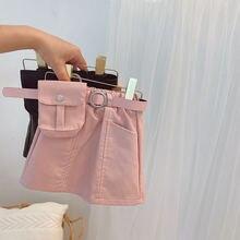 Розовые кожаные юбки для маленьких девочек маленькая сумка с