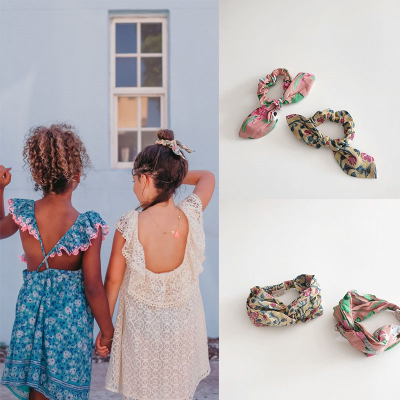EnkeliBB Beautiful Kids Girls Headband LM Brand Retro Floral Hair Band Children Hawaii Accessories