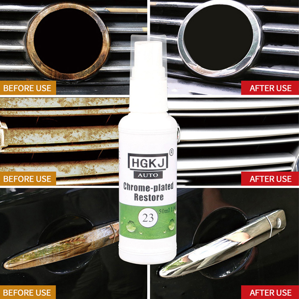 1pc Car Rust Remover 20/50ML HGKJ 23 Chrome Refurbishment Polishing Anti-Rust Lubricant Tool Metal Corrosion Protection