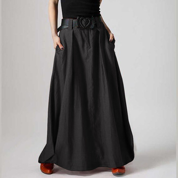 Women's Elegant Solid Skirts