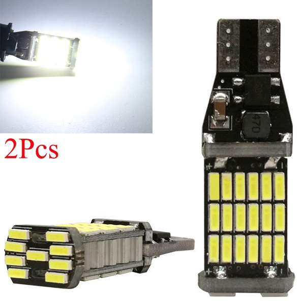 2Pcs High Power Auto Bulb White DC 12V <font><b>Car</b></font> Reverse Back Light <font><b>T15</b></font> W16W 45 SMD 4014 Turn Signal <font><b>Lamp</b></font> <font><b>LED</b></font> Canbus image