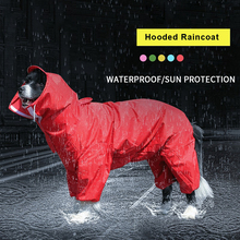 Large Dog Raincoat Hoody Waterproof Rain Clothes Jumpsuit for Big Medium Small Dogs Golden Retriever Outdoor Pet Jackets Coat