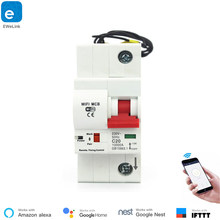 EWeLink 1P Smart Circuit Breaker WiFi Switch Remote Control System Short Circuit Protection Alexa Echo Google Home Compatible(China)